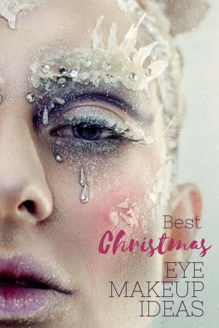 eye makeup ideas - christmas eye makeup - festive eye makeup