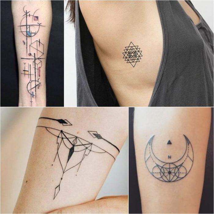 geometric tattoo - geometric tattoos designs - geometric tattoos meaning
