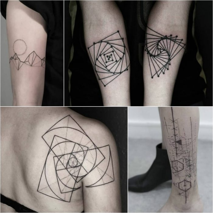 geometric tattoo - geometric tattoos designs - geometric tattoos meaning
