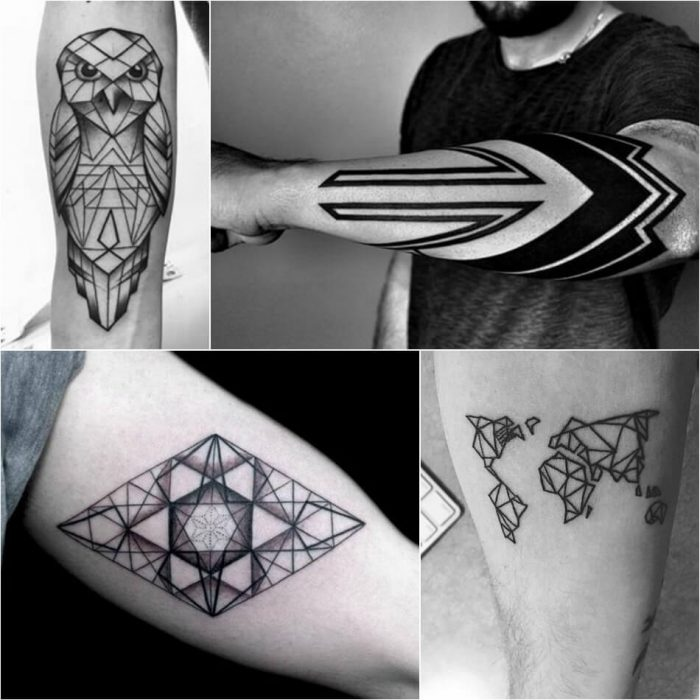 geometric tattoo - geometric tattoos for guys - geometric tattoos design