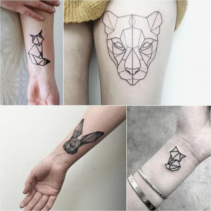 geometric tattoos animals - geometric tattoo - geometric tattoos small