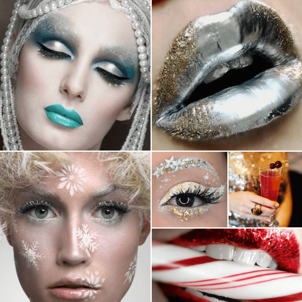 makeup looks - festive makeup ideas - christmas makeup ideas