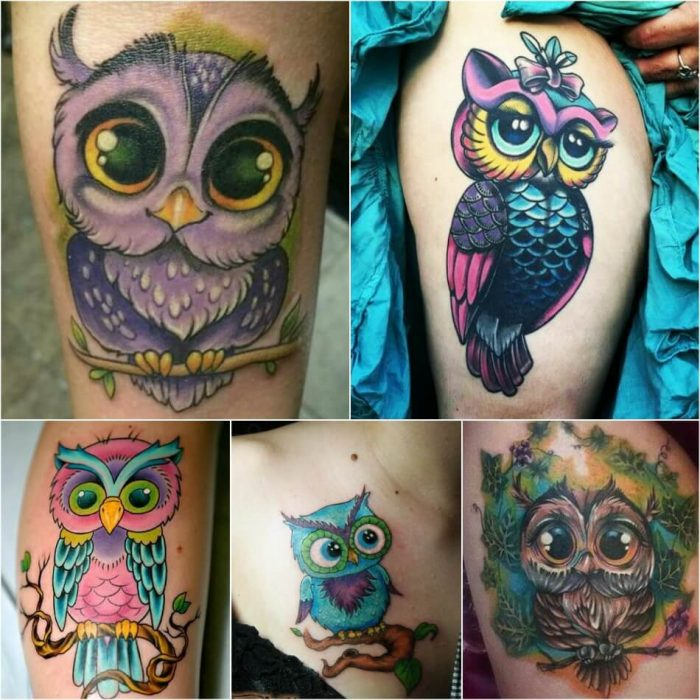 owl tattoo - girly owl tattoos - owl tattoo meaning