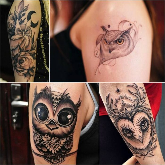 owl tattoo - owl tattoo meaning - girly owl tattoos
