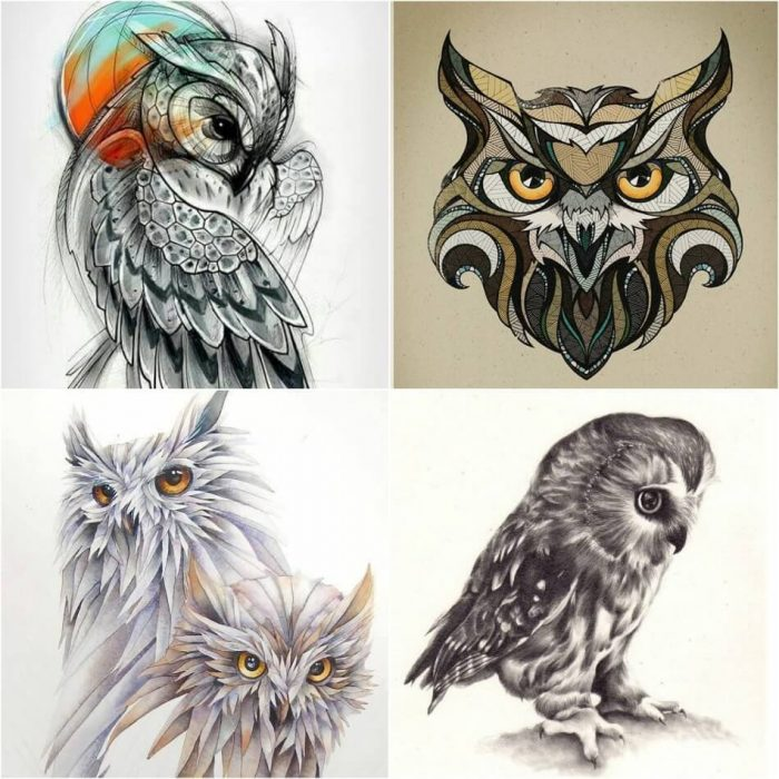 owl tattoo - owl tattoos designs - owl tattoos meaning