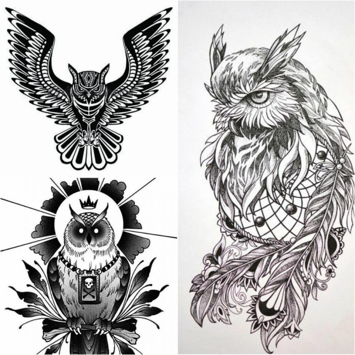 d3277e1707979 owl tattoo - owl tattoos designs - owl tattoos meaning ...