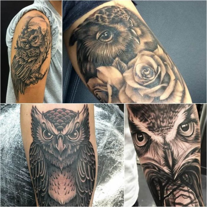 owl tattoo - owl tattoos on arm - owl tattoos for guys