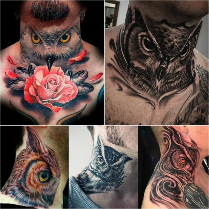 owl tattoos on neck - owl tattoo - owl tattoos for guys