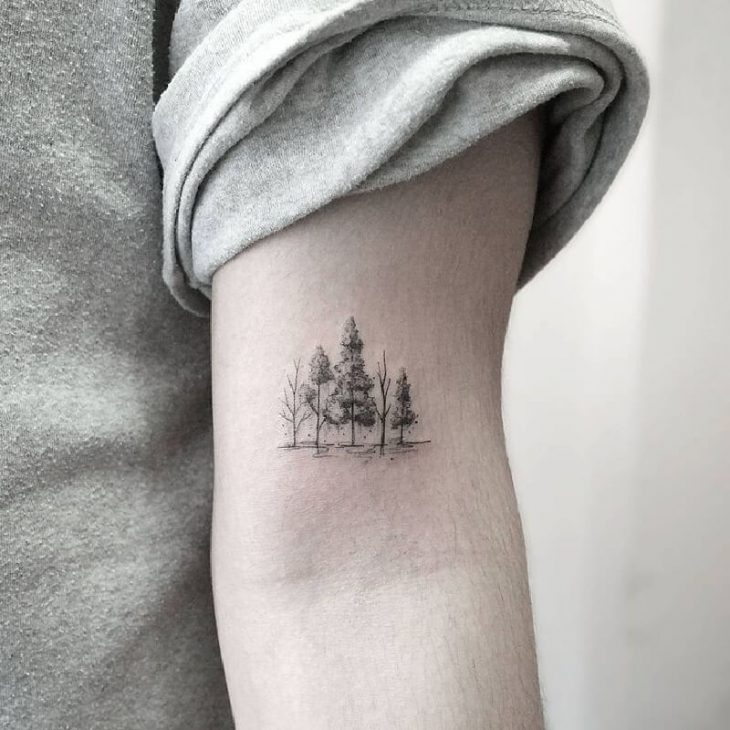 simple tree tattoos - tree tattoos - tree tattoos on arm