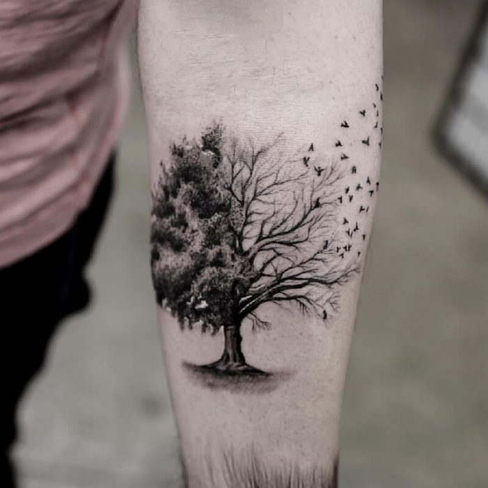 tree tattoos for guys - tree tattoos meaning - tree tattoos on arm