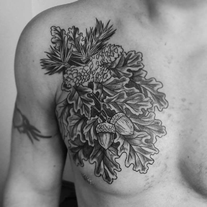 tree tattoos on chest - tree tattoos meaning - tree tattoos for guys