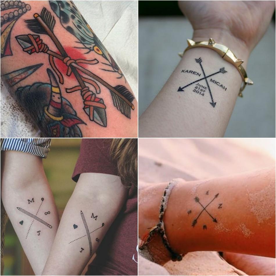 arrow tattoo - arrow tattoo with words - small arrow tattoo