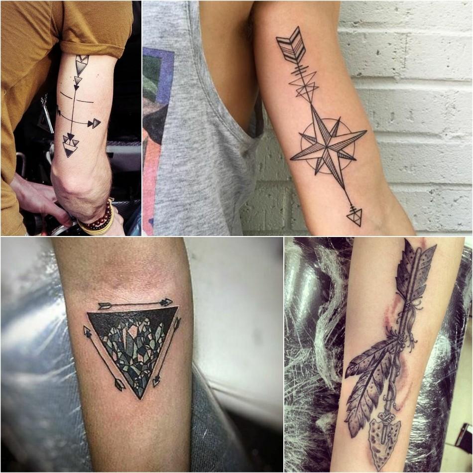 arrow tattoo - arrow tattoos for guys - feather arrow tattoo