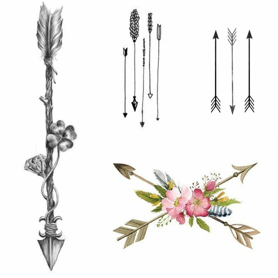 arrow tattoo - feather arrow tattoo - arrow tattoo ideas