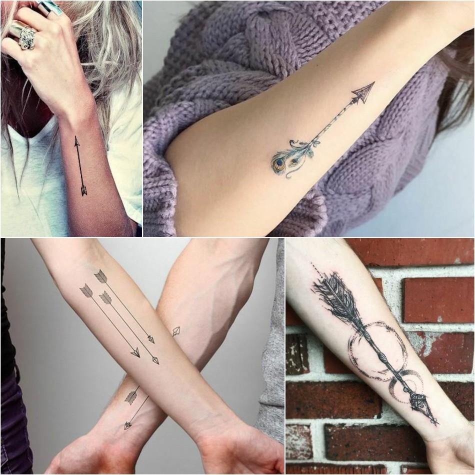 arrow tattoo - simple arrow tattoo - girly arrow tattoo
