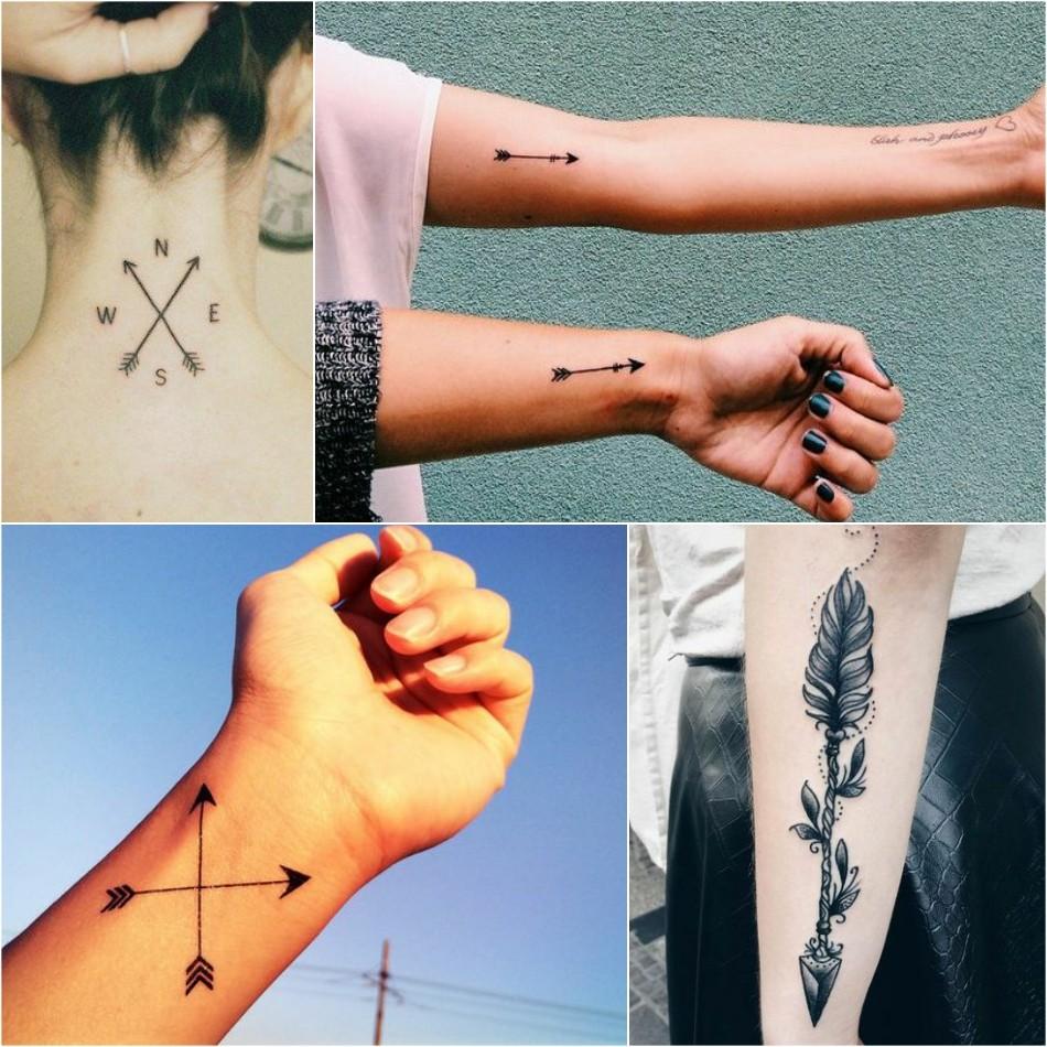 arrow tattoo - small arrow tattoo - simple arrow tattoo