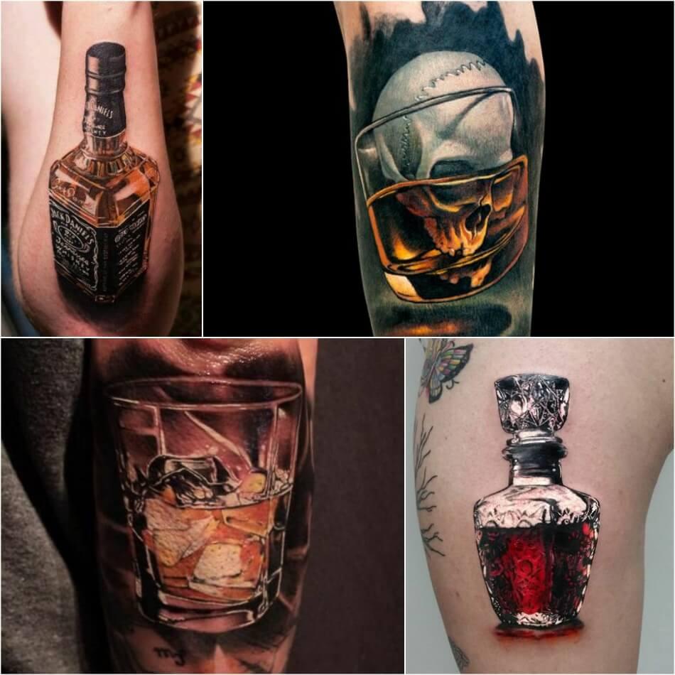 bartender tattoo - cocktail tattoo ideas - tattoo alcohol drink