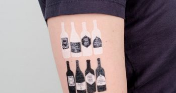 bartender tattoo - small cocktail tattoo - tattoo alcohol drink