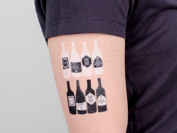 bartender tattoo - small cocktail tattoo - tattoo alcohol drink