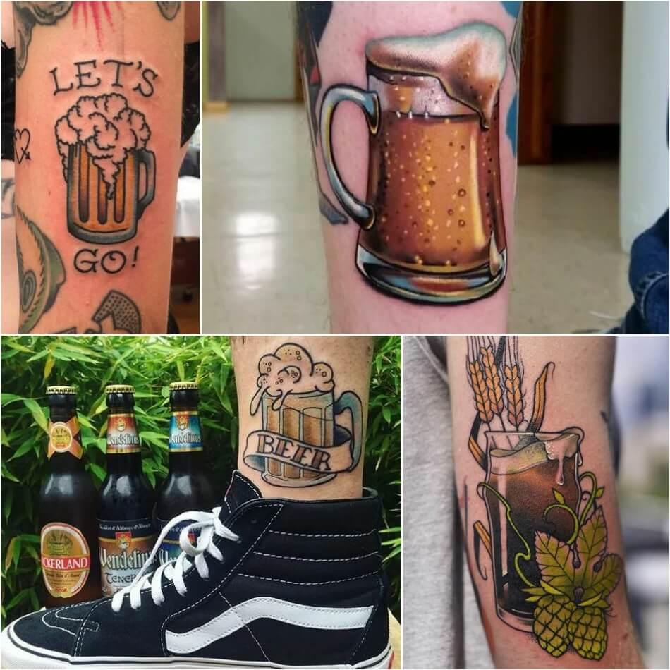 bartender tattoo - tattoo alcohol drink - tattoo beer