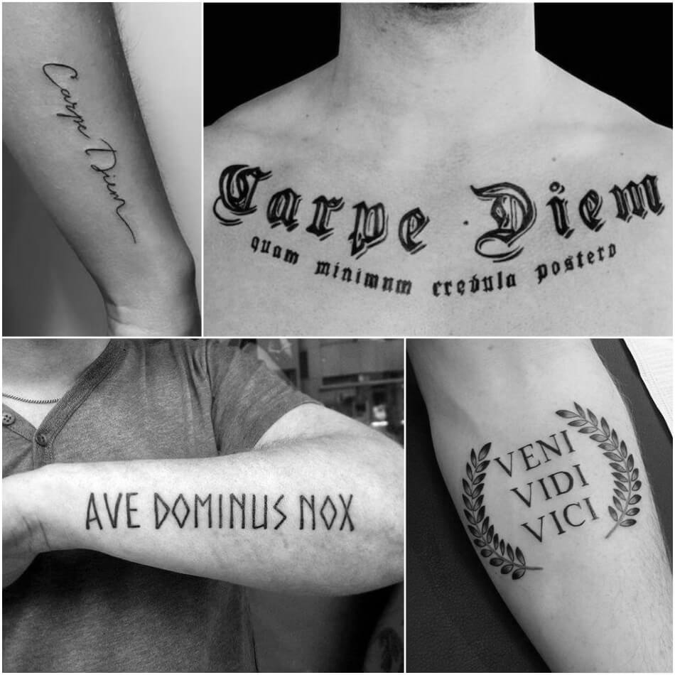 quote tattoos for guys - quote tattoo placement for guys - tattoos with meaningful sayings
