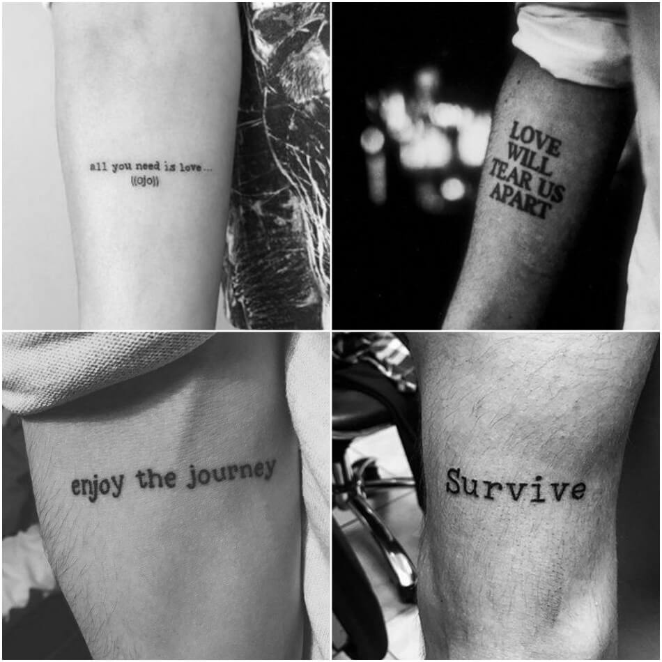 quote tattoos for guys - short quote tattoos for guys - meaningful tattoo quotes
