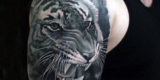 shoulder tattoos animals - shoulder tattoos - shoulder tattoos tiger