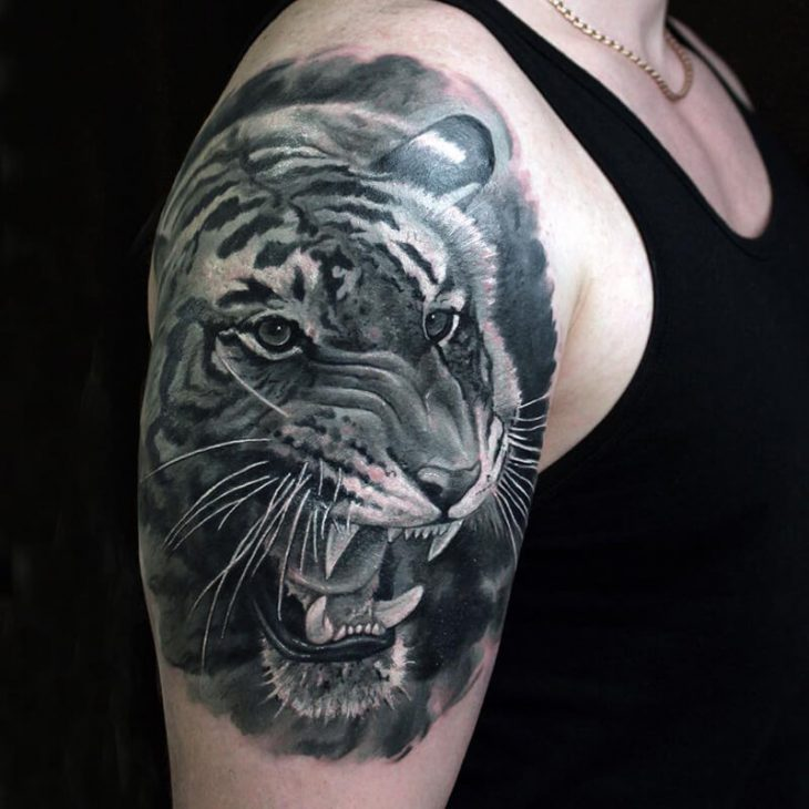 shoulder tattoos animals - shoulder tattoos - shoulder tattoos tiger