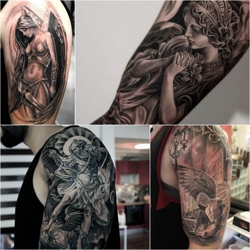 shoulder tattoos for men - angle shoulder tattoo - jesus shoulder tattoos