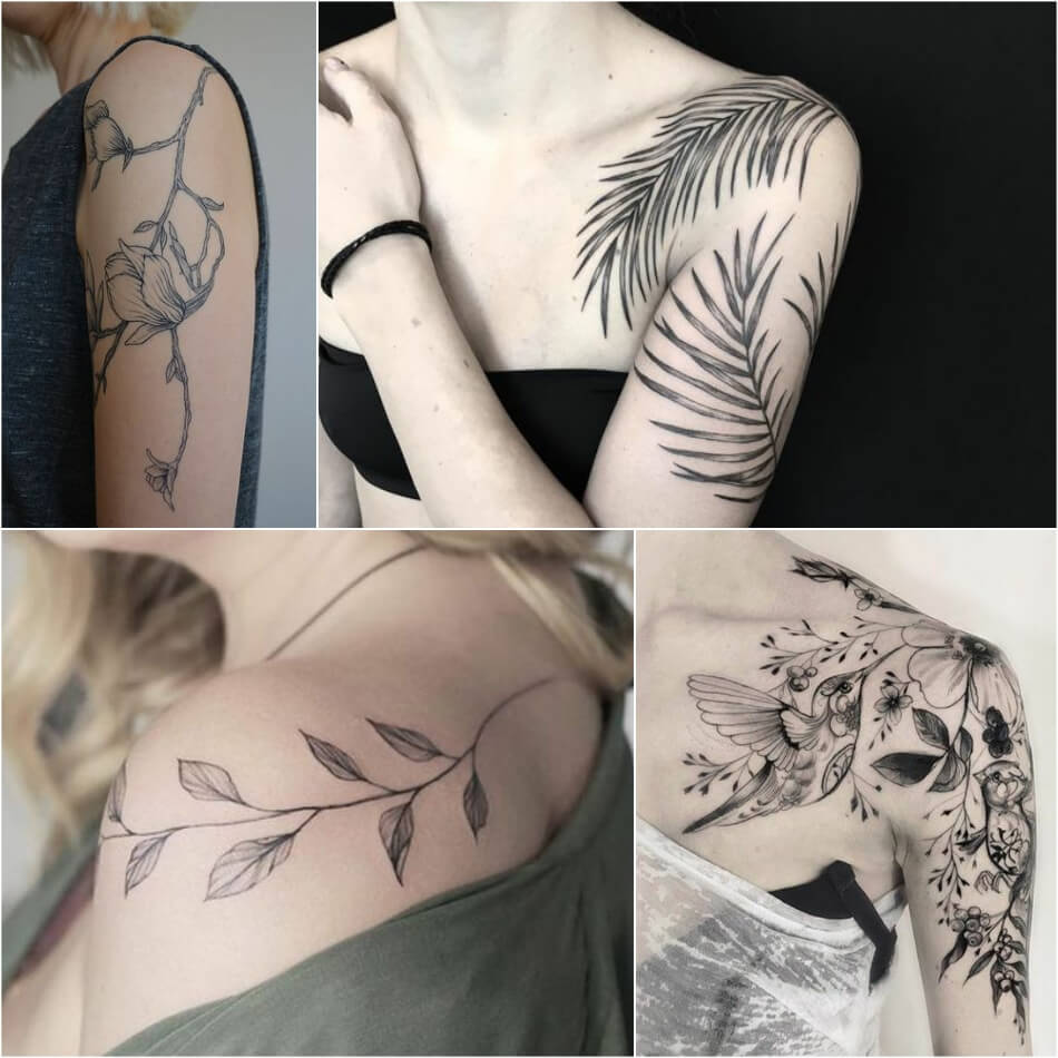 shoulder tattoos - shoulder tattoos for girls - shoulder tattoos flowers