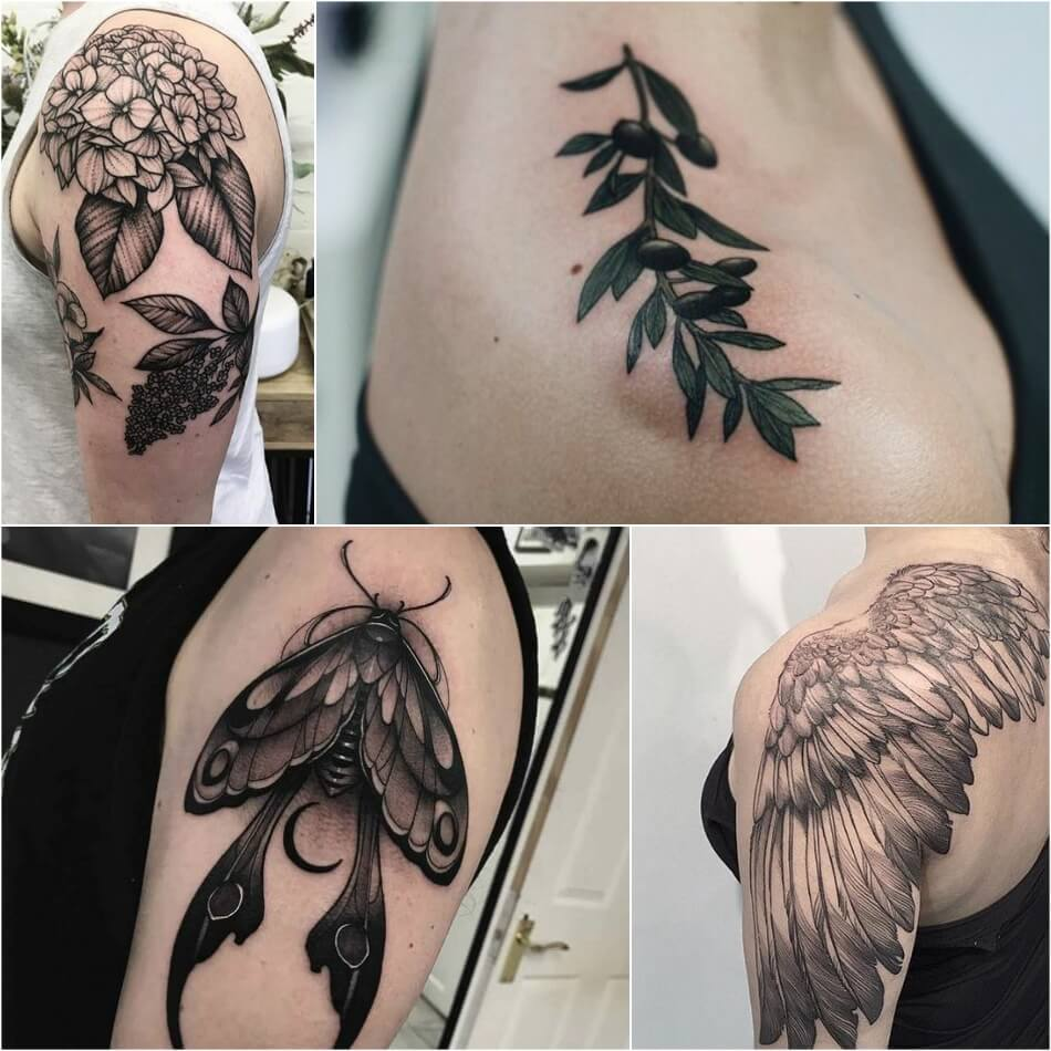 shoulder tattoos - shoulder tattoos for girls - shoulder tattoos for women