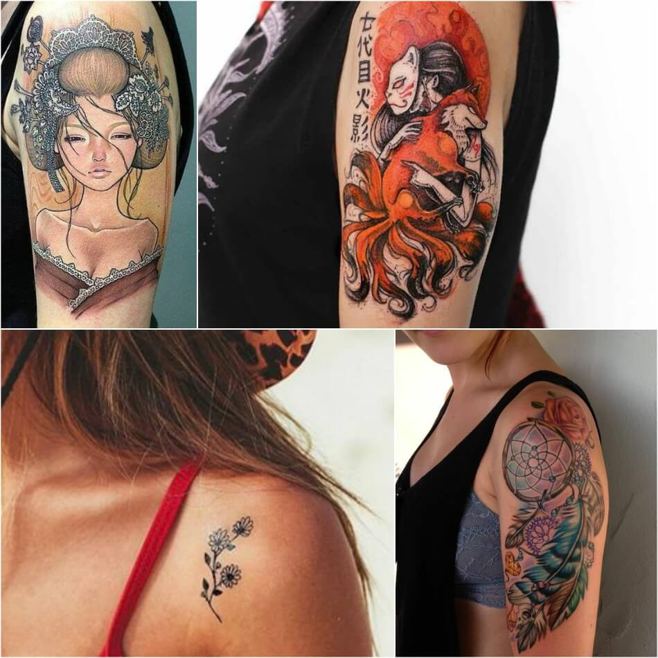 shoulder tattoos - shoulder tattoos for girls - tattoo on shoulder for women