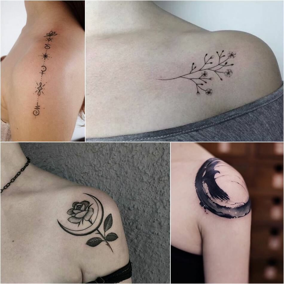 shoulder tattoos - simple shoulder tattoos - shoulder tattoos for girls