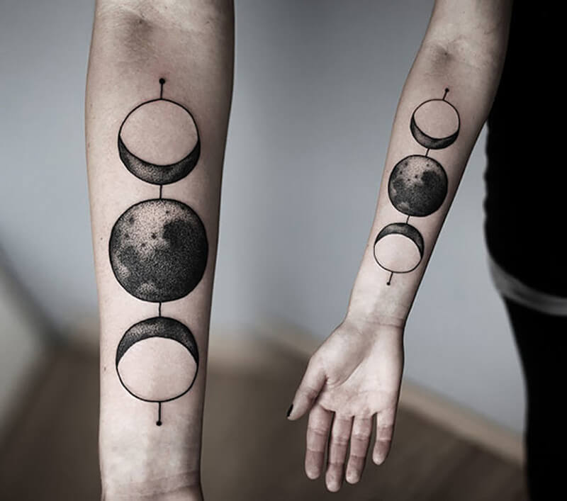space tattoo - minimalist space tattoos - planet tattoo