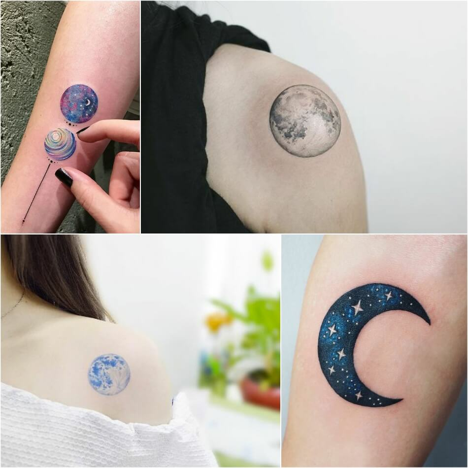 space tattoo - planet tattoo - small space tattoo