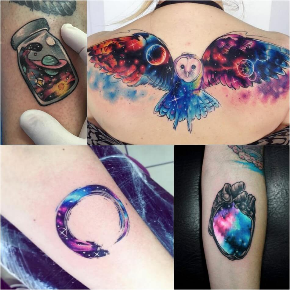 Space Inspired Tattoos - Planet Tattoo Ideas for Men and Women