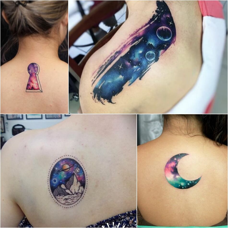 space tattoo - planet tattoo - space tattoo ideas
