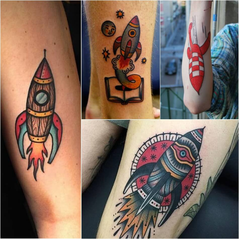 space tattoo - rocket tattoo - rocket ship tattoo