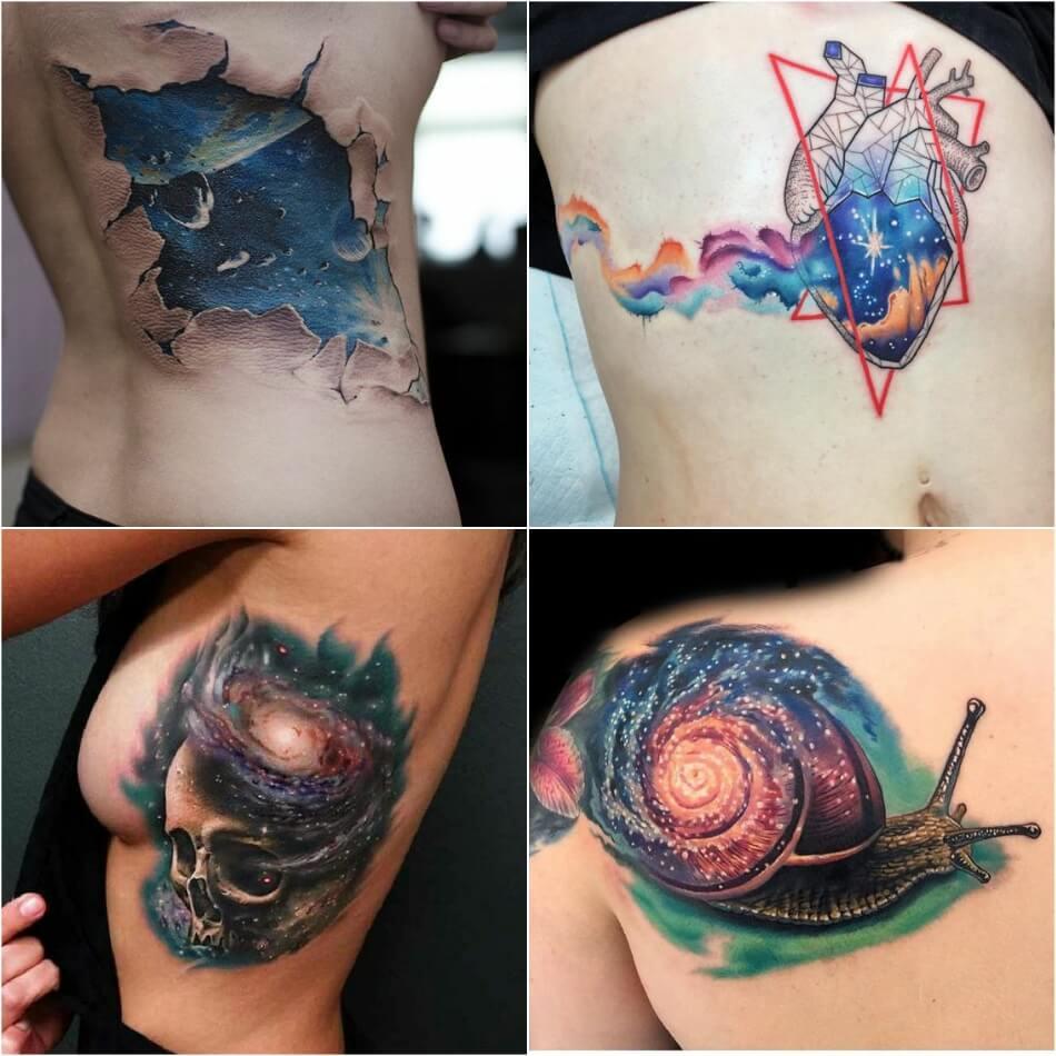 space tattoo - space tattoo ideas - planet tattoo