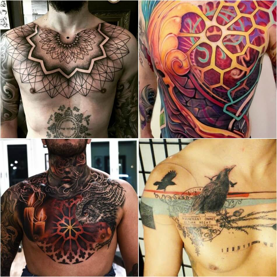 100+ Best Chest Tattoos for Men - Chest Tattoo Gallery for Men