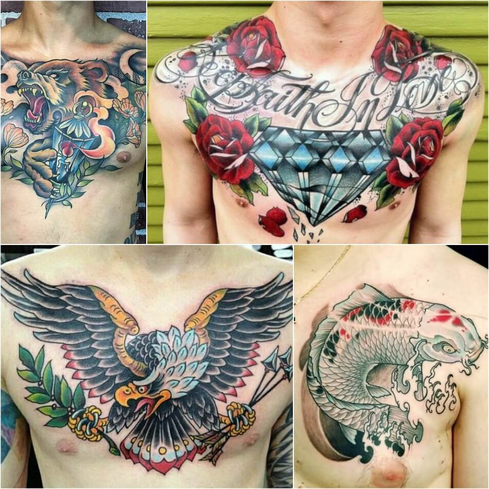 chest tattoos for men - chest tattoo ideas - chest tattoo for guys