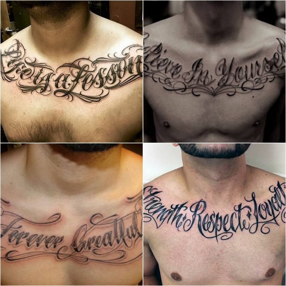chest tattoos for men - chest tattoos quotes - chest tattoo ideas