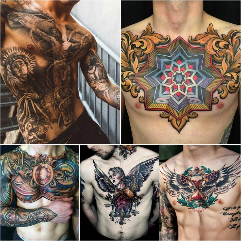chest tattoos for men - religious chest tattoos - chest tattoo ideas