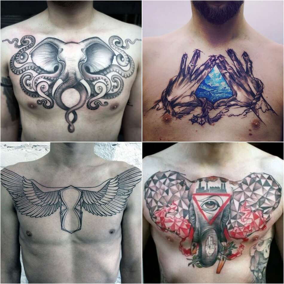 chest tattoos for men - simple chest tattoo - chest tattoo ideas