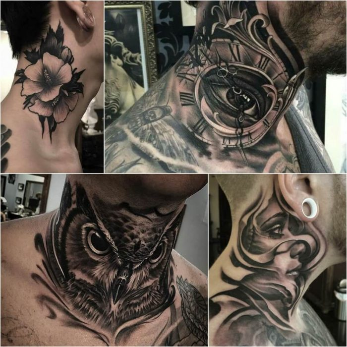 neck tattoo - neck tattoos for men - neck tattoo ideas