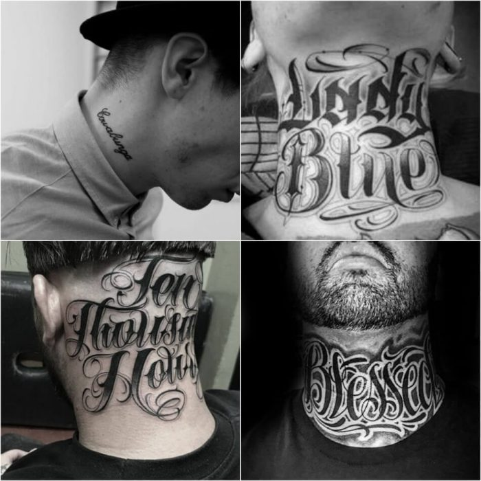 neck tattoo - neck tattoos names - neck tattoo quotes