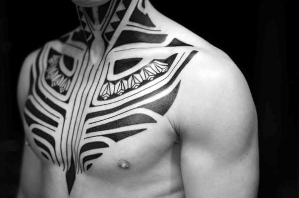 neck tattoo - tribal neck tattoos - neck tattoos for men