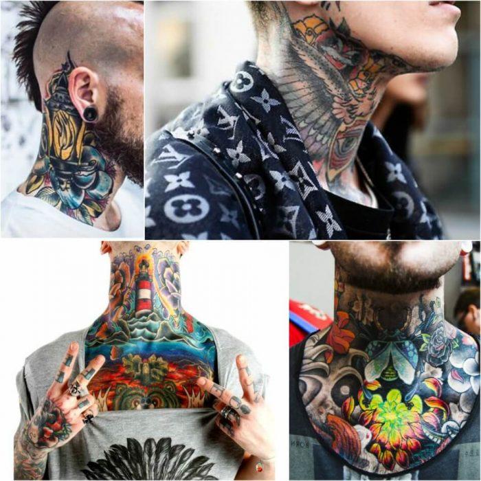 neck tattoos - neck tattoos for men - neck tattoos for guys