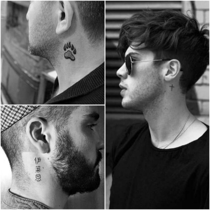 small neck tattoos for guys - neck tattoos - small neck tattoos for men