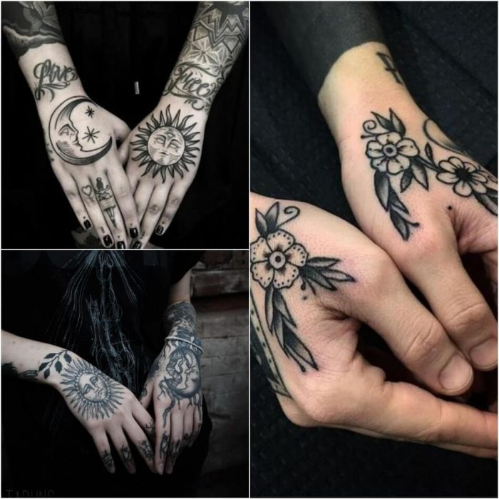 female hand tattoos - hand tattoos for girls - beautiful hand tattoos